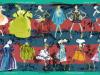 étole-20ans-bordeau-marine-bordure verte-laine et soie