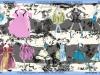 étole-20ans-gris-blanc-bordure bleue-laine et soie