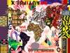 carré de soie-continents-patchwork-90 x 90 cm