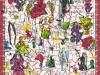 carré de soie-croquis-craquelé-défilés-blanc-70 x 70 cm