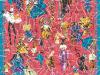 carré de soie-croquis-craquelé-défilés-rouge-70 x 70 cm