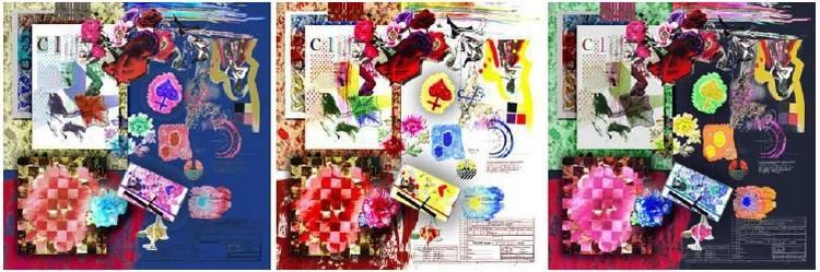 carre-de-soie-christian-lacroix-68x68-fleur-rouge-bleu-blan-marinec