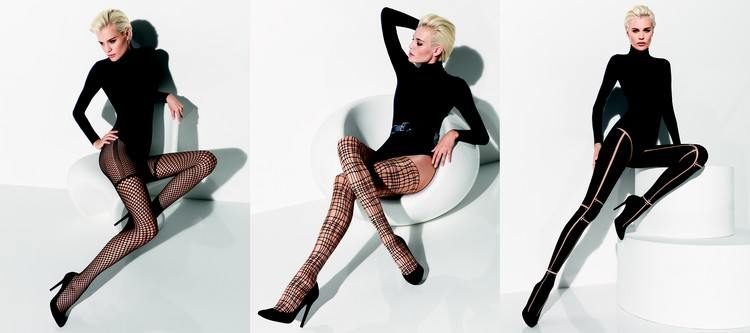 collants fantaisie tres graphiques de la collection wolford 2013