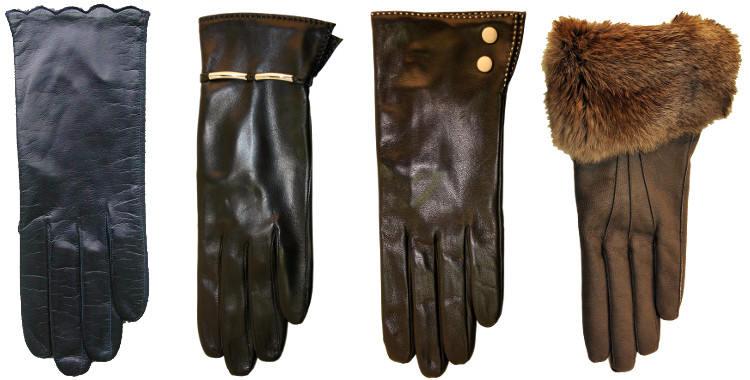 gants femme en cuir d'agneau ou de chevreau