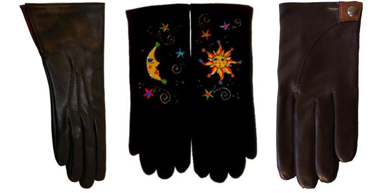 gants de cuir pour femmes et homme, gants en tissus de la Maison Quand les poules auront des gants