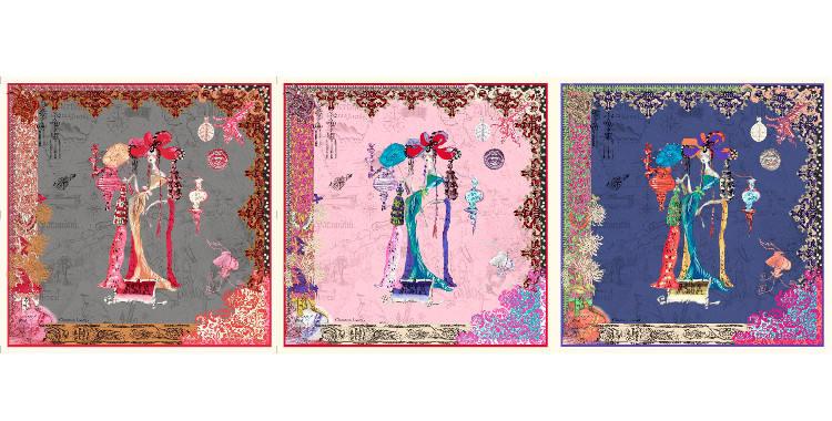 carré de soie christian lacroix 2014 thème asia