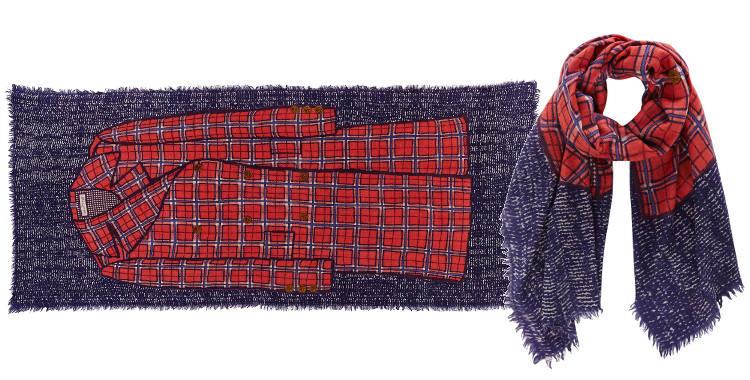 Foulards Inouitoosh 2014,Woody, en étamine de laine.