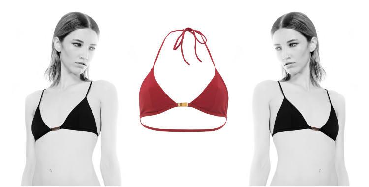 Soutien gorge de maillot de bain deux pièces de la marque Thapelo, collection 2015, coloris rouge.