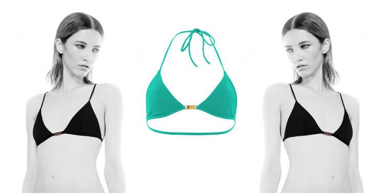 Soutien gorge de maillot de bain deux pièces de la marque Thapelo, collection 2015, coloris turquoise.