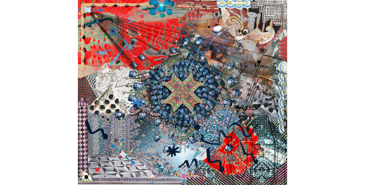 Foulards Christian Lacroix 2015, thème les Nouveaux Horizons.