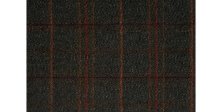 écharpes de la maison Glen Prince, collection 2015, en laine mérinos et laine angora, motifs tweed, en coloris kaki.