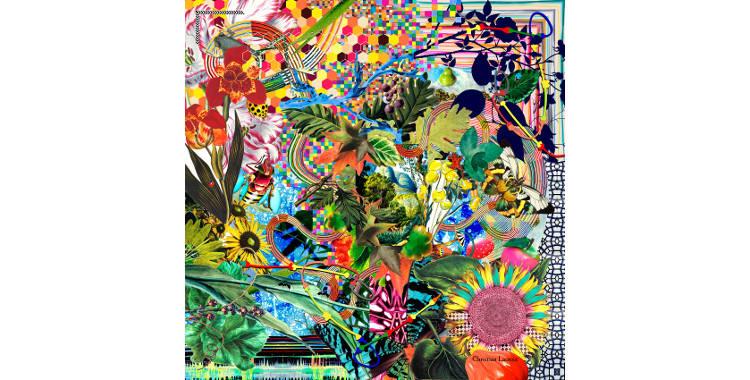 """Carrés de soie Christian Lacroix 2015, thème de la Forêt enchantée """"Enchanted Forest"""", en multicolore."""