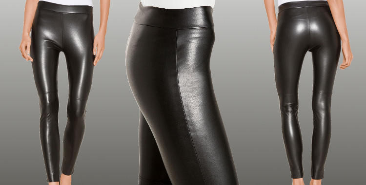Leggings Wolford 2015, aspect cuir .