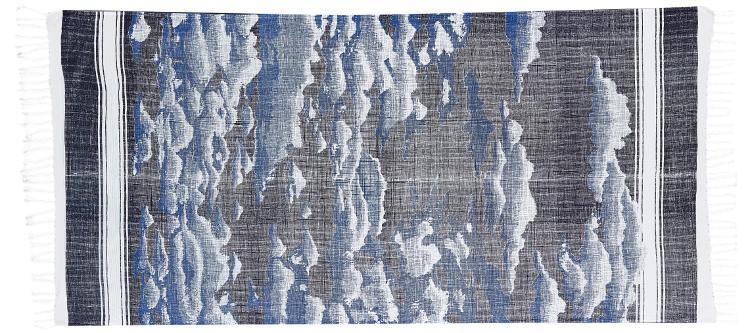 Foutas 100% coton Inouitoosh, collection 2016, les nuages en bleu.