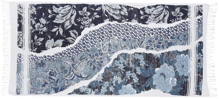 Foutas 100% coton Inouitoosh, collection 2016, le patchwork en bleu.
