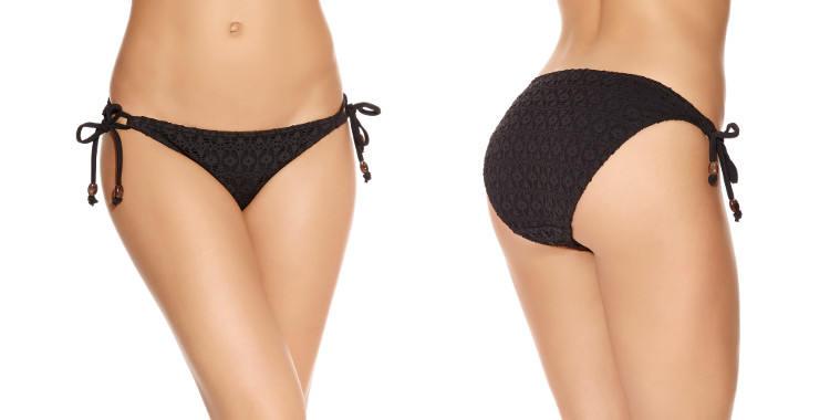 Culotte fine de maillot de bain deux pièces, bikini de la marque Freya spécialisée dans les tailles de bonnet D à F pour les poitrines profondes.