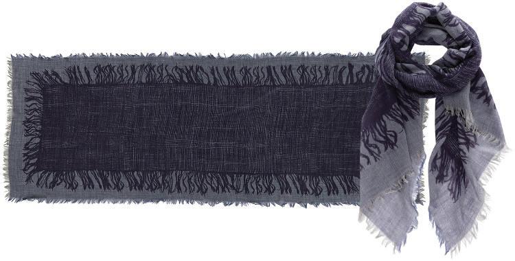 Foulards en étamine de laine, Inouitoosh collection 2016, les franges, dimensions 190 cm x 70 cm.