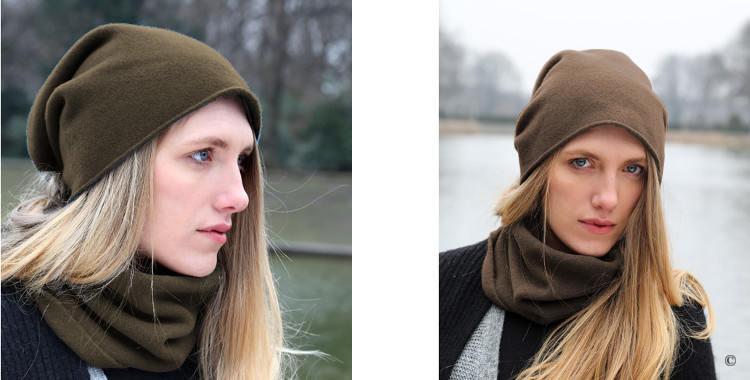 Les bonnets et les écharpes de la marque ABOUT ACCESSORIES sont en pur cachemire, en coloris marron.