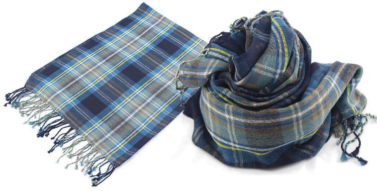 d62646588ea8 Foulards imprimé, à porter en étole ou en écharpe, en étamine de laine 100