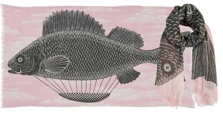 Foulards en coton le poisson montgolfière Inouitoosh été 2018 nude