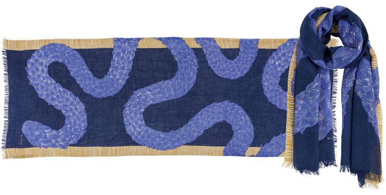 Foulards le serpent boa Inouitoosh été 2018 bleu