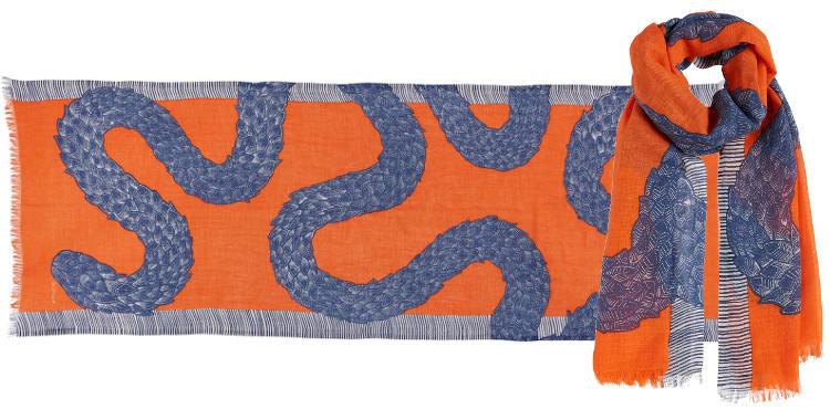 Foulards le serpent boa Inouitoosh été 2018 orange