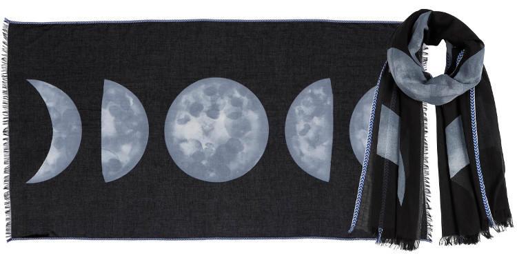 Foulards l'éclipse de lune Inouitoosh été 2018 noir