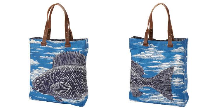 sac coton Inouitoosh 2018 poisson nuages bleu