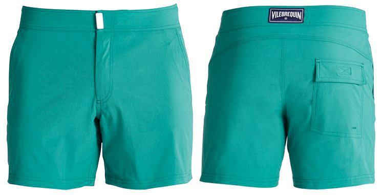 short homme stretch merise bleu turquoise vilebrequin 2018