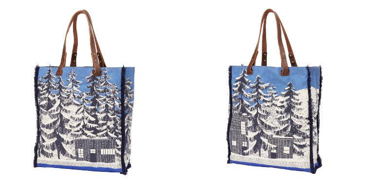 sac en coton imprimé, les cabanes sous la neige, Inouitoosh 2018