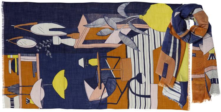 foulard étole en laine interieur décoration lampes mirroirs meubles
