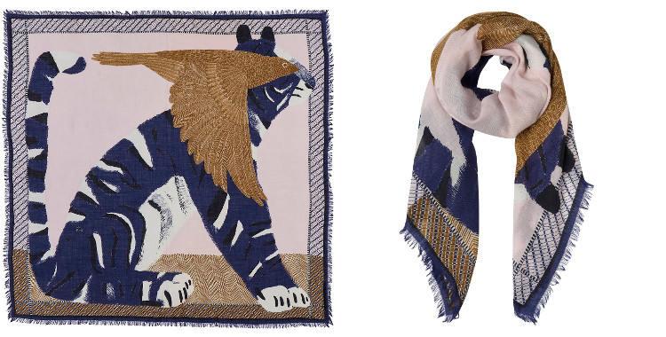 châle foulard en laine inouitoosh 2018 l'oiseau et le tigre