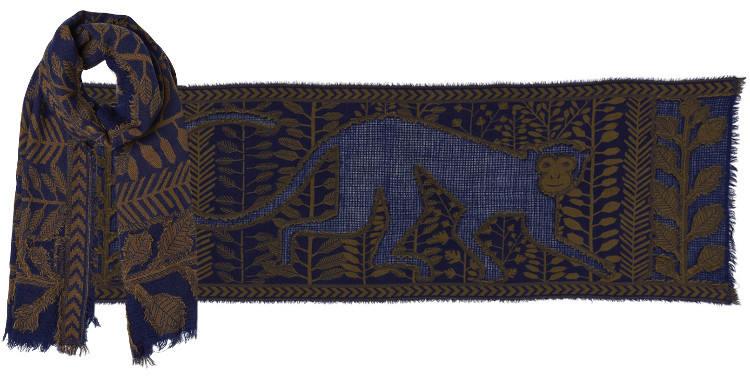 foulard écharpe étole en laine inouitoosh 2018, le roi des singes Hanuman