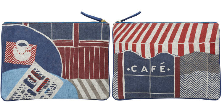 pochette café de Paris, en coton, Inouitoosh 2018