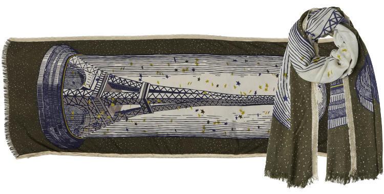 foulard écharpes en laine et soie la Tour Eiffel