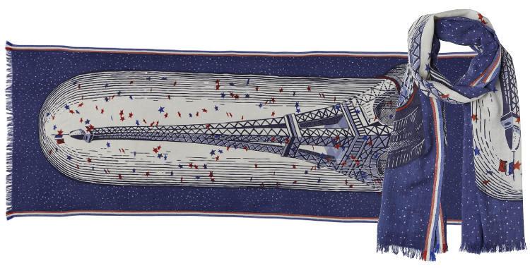 foulard écharpe en laine et soie Inouitoosh 2018 Tour Eiffel sous cloche