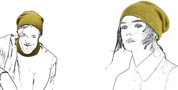 Bonnet en laine cachemire 100 % fabriqué en Italie coloris beige camel, pour hommes et femmes