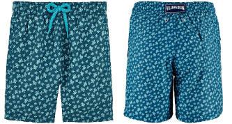 Short maillot de bain hommes Vilebrequin de Saint-Tropez uni imprimé 2018