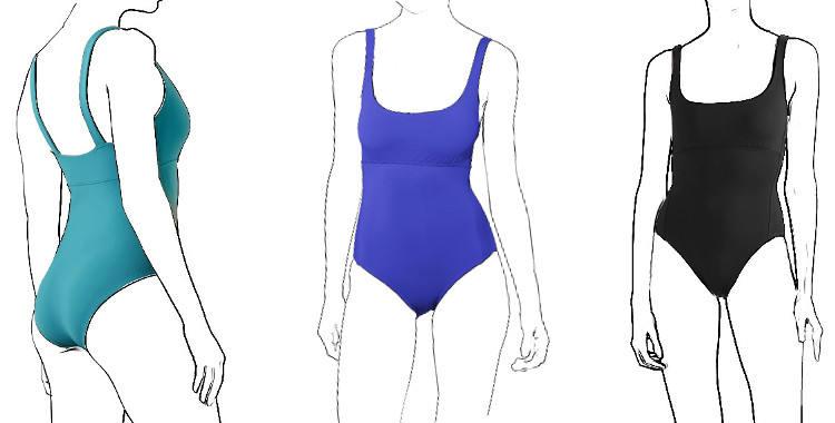 maillot Arnaque, une pièce Eres 2019, décolleté droit, couture sous-poitrine.