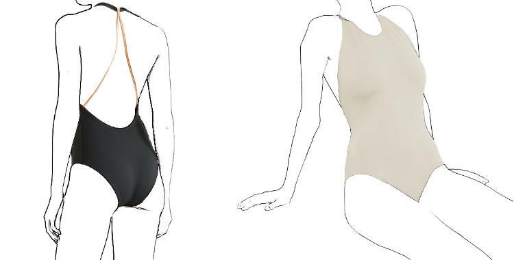 maillot Necklace, une pièce Eres 2019, tour de cou, décolleté dos, bretelles dorées.