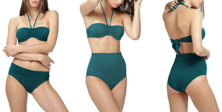 Culotte montante bandeau maillot dnud 2019 vert.