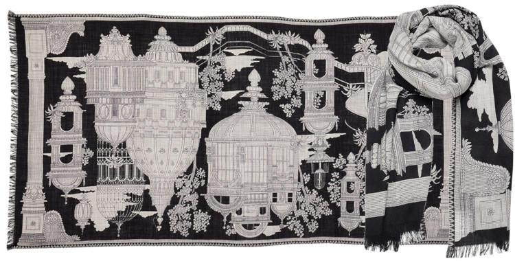 Foulard laine Inouitoosh hiver 2019 Cité flottante noir