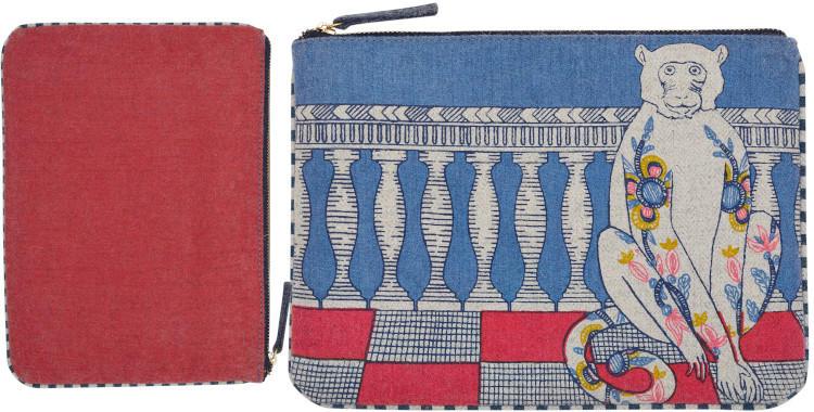 pochettes en laine, Inouitoosh hiver 2019, le singe et les fleurs d'acanthes.