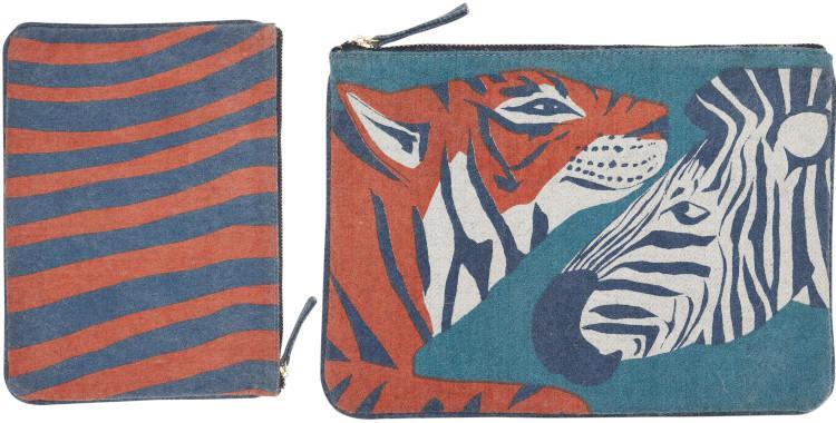 pochettes en laine, Inouitoosh hiver 2019, le tigre et le zèbre.