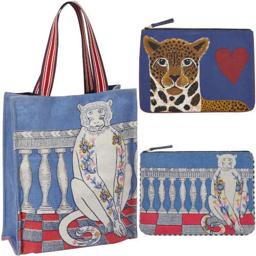 sacs et pochettes, Inouitoosh, hiver 2019, singe, panthère.