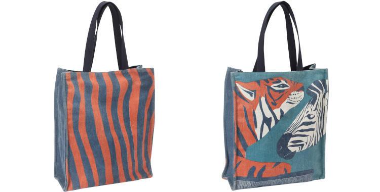 sac en laine Inouitoosh hiver 2019, tigre et zebre.