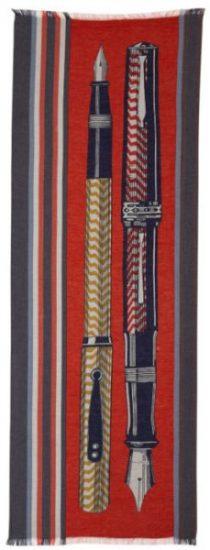 écharpe paréo en coton, Inouitoosh 2020, le stylo rouge.