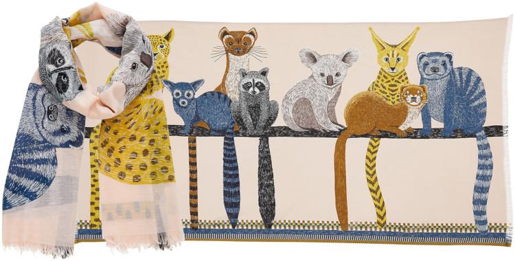 Foulards Inouitoosh été 2020, en coton, les petits marsupiaux, en nude.