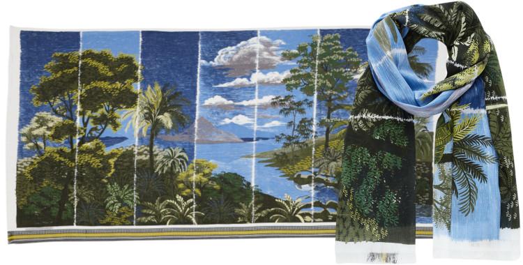Foulards Inouitoosh été 2020, en coton, l'île de Mayotte, en vert.