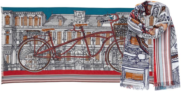 Foulards Inouitoosh été 2020, en coton, le vélo tandem, orange.